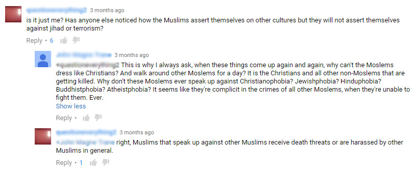 Here is the second most popular comment on this interview.